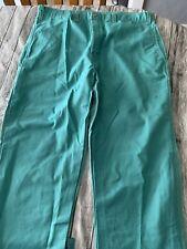 Green Flame Resistant Retardant Weld Arc Protech Pants 40 X 34