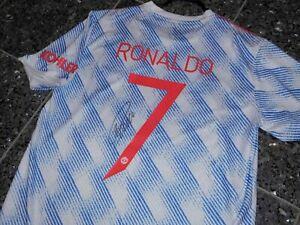 "Manchester United Adidas ""RONALDO"" Trikot; Handsigniert/Autogramm Gr.L  CHARITY"""