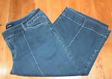 Denim Jeans Capris size 18 Lane Bryant cotton stretch dark wash crop bermuda
