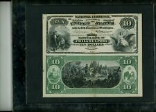 $10 TEN DOLLAR NATIONAL CURRENCY FIRST CHARTER PROOF 1875 PHILADELPHIA SCARCE