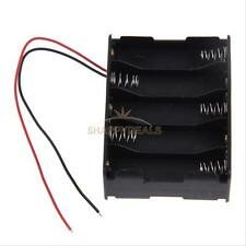 "1Pcs 10 AA 2A Battery 15V Clip Holder Box Case Storage w/6"" Wire Leads Black #5"