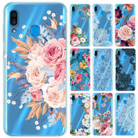 For Samsung Galaxy A20E A50 M20 M30 Clear Painted Shockproof Soft Silicone Cover