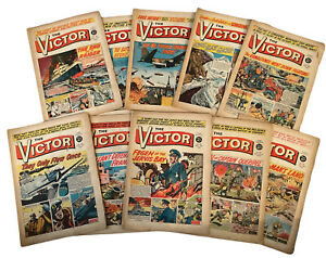 10 x Victor Comics dated 1962 Various Issues FREE UK P&P