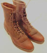 Santa Fe Boot Co. Leather Western Roper Kittle Boots Mens Sz,9 M Womens Sz 11M