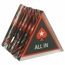 All-In Dreieck all in triangle acryl Poker Dealer Button Pokertisch Casino
