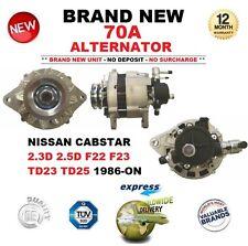 Per NISSAN CABSTAR 2.3D 2.5D F22 F23 TD23 TD25 1986-ON 70 A ALTERNATORE OE Quality