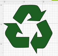 Trash and Recycle - sticker decals / home and office container / 5