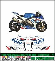 kit autocollant stickers compatible gsxr 600 750 1000 bsb tyco