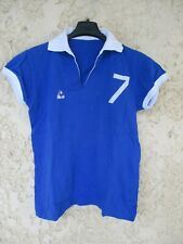 Maillot LE COQ SPORTIF vintage porté n°7 volleyball trikot coton shirt 70'S 40