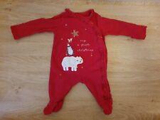 Baby babygow polaire rouge motif Noel jusqu/'à 3 m Neuf avec étiquette