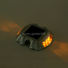 Solar Power Marker LED Outdoor Road Driveway Pathway Dock Path Ground Step Light Yellow Without Flash