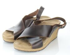 45-62 $160 Women's Sz 40 N Papillio by Birkenstock Samira Wedge Sandal In Cognac