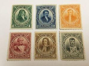 old stamps  ECUADOR    x  6 MH