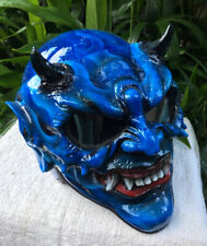BEAST Blue Devil Custom Helmet 3D Evil Demon Skull DOT Helmet Monster Helmet