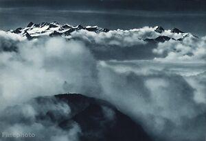1931 Vintage 11x14 CLOUDS Aerial Mountain Landscape Switzerland ~ JEAN GABERELL