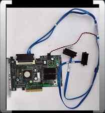 DELL SAS SCSI E2K-UCS-51 PCI-EXPRESS KARTE RAID CONTROLLER + SAS KABEL 2 x HDD
