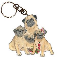 Pug Wooden Keychain