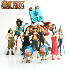 ONE PIECE/ SET 10 PCS 4-19 CM SANJI NICO LUFFY ZORO SHANKS NAMI BROOK IN BOX
