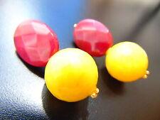 Echter Edelsteine-Ohrschmuck aus Gelbgold mit Rubin für Damen