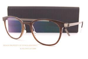 Brand New LINDBERG Eyeglass Frames Buffalo Horn 1818 H18/10 Medium BrownTitanium