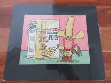 1970's-80's Kellogg'S Sugar Corn Pops Cowboy Commercial Original Artwork