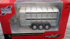 40710A1 BRITAINS FARM 1/32 SCALE IFOR WILLIAMS TA510T TRI-AXLE CATTLE TRAILER