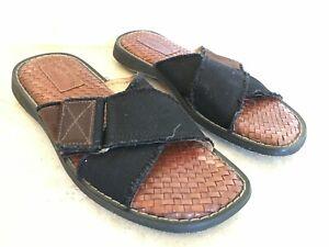 TOMMY BAHAMA RELAX slip on black sandals size 11 Turks