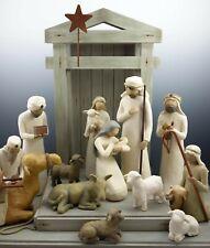 Demdaco Willow Tree Nativity 14 Pcs Wisemen Stable Animals Crèche Susan Lordi