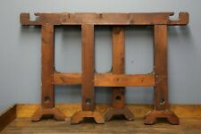 Vintage Antique Wood Table Legs Workbench, Kitchen Island, Desk, Industrial old