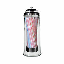 Davis & Waddell Essentials Glass Straw Dispenser With 100 Straws