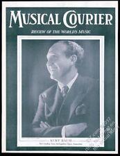 1942 Kurt Baum photo Musical Courier framing cover
