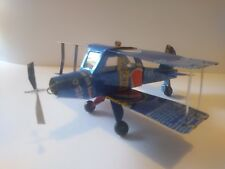 Recycled Tin Can Model: Bi-plane - Pepsi  (+ other cans)