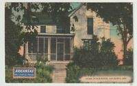 1947 Postmarked Postcard Home of Bob Burns Van Buren Arkansas AR
