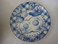 "Handcrafted Salt & Pepper 6147 Breakfast Dinner Plate, 10 1/2"" Diameter"