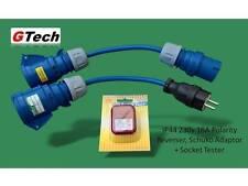 Polarity Reverse Adaptor +Socket Tester +European Schuko Caravan Hook Up Adaptor