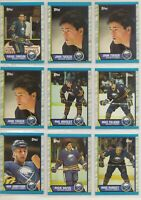 BUFFALO SABRES ~ 1989-90 Topps TEAM LOT / SET ~ 13 Hockey Cards ~ HOUSLEY