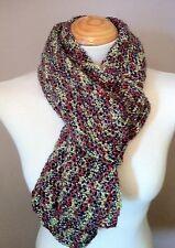 HAND Crocheted Sciarpa/Cappuccio/basso di lenza/realizzati a mano misto LANA TRAMA GROSSA MIX-MIX VERDE