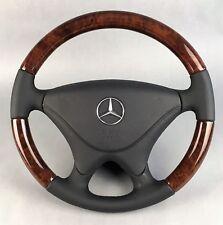 Mercedes sl r129 SLK r170 w202 madera volante sportline (sa) con cuero airbag nuevo