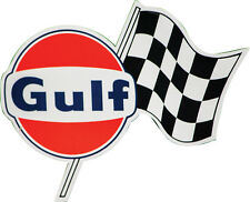 Gulf Gas Oil Racing Decal Checkered Flag Left Hand LH GT40 Ford Chevy Hotrod GM
