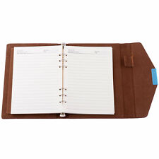 Red A5 Personal Conference Folder Organiser Planner Leather Cover Document