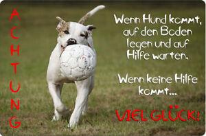 American BULLDOG - A4 Alu Warnschild Türschild SCHILD Hundeschild - AMB 04 T39