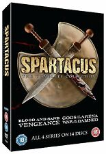 "SPARTACUS COMPLETE COLLECTION ALL 4 SEREIS 14 DISCS DVD BOX SET ""NEW&SEALED"""