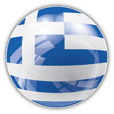 Greece Flag Glossy Car Bumper Sticker Decal 5'' x 5''