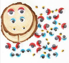 100pcs Mix Color Eyelashes Wiggly Wobbly Googly Eyes Scrapbooking Size 10-15mm