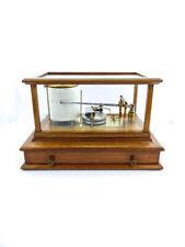 Simplex Barograph barometer großes Holzgehäuse