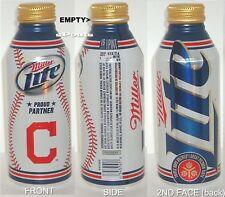 2012 CLEVELAND INDIAN MLB OH BASEBALL SPORT MILLER LITE ALUMINUM BOTTLE-BEER CAN
