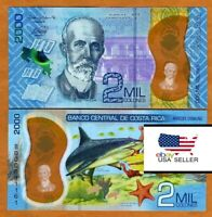 [USA Seller] Costa Rica 2000 Colones 2018 (2020) Brand New Banknote UNC Polymer