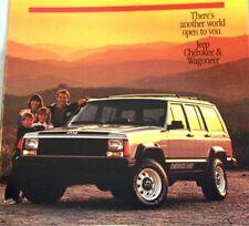 1986 86 Jeep Cherokee & Wagoneer original brochure MINT