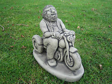 Biker stone garden ornament motor bike <<VISIT MY SHOP>>
