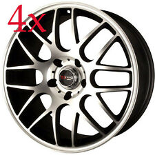 Drag Wheels DR-37 17x7.5 5x120 +42 Black Machined Rims For BMW Z4 M3 X3 X3 X5